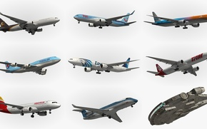 Wallpaper different, aircraft, starship, types