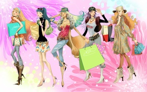 Picture girls, mood, figure, art, fashion, for girls