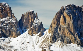 Picture winter, mountains, Italy, The Dolomites, southern Alps