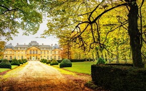 Picture House, autumn, Garden, Castle