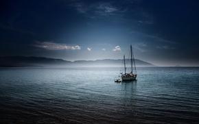 Picture sailboat, Greece, Limnionas Bay, Samos