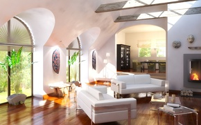Picture design, house, style, Villa, interior, living space