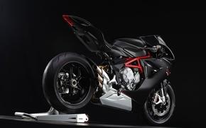 Picture black background, motorbike, MV-Augusta