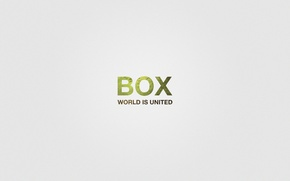 Picture text, the world, noise, box