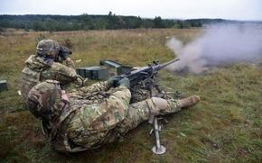 Picture machine gun, United States Army