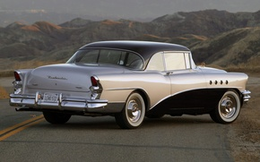 Picture mountains, Buick, classic, rear view, 1955, Buick, of Jay Leno, Roadmaster, Roadmaster