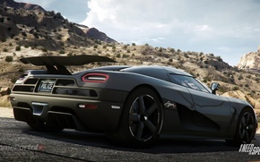 Picture car, need for speed, agera, cop, video game, koenigsegg, rivals