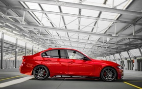 Picture BMW, BMW, Red, F30, Side, Red