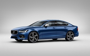 Wallpaper background, Volvo, Volvo, Sedan, S90