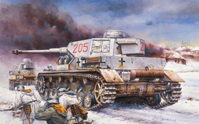 Picture figure, tank, average, Panzer 4, Pz.Kpfw. IV Ausf. G