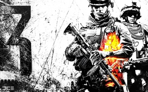 Picture figure, soldiers, scratches, Battlefield 3, JICE