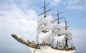 Picture sea, ship, sails, Sorlandet, Frigate