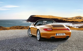Picture 911, porsche, beach, cars