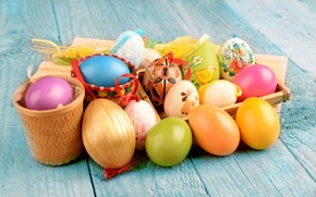 Picture Design, Easter, Eggs, Holiday