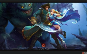 Picture Crystal Maiden, Dota2, tidehunter, views of