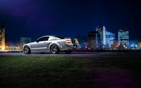 Picture Mustang, Ford, Dark, Muscle, Car, Downtown, American, Rear, Nigth