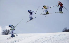 Picture Ski Cross, The XXII Olympic winter games, 2014 winter Olympics, 2014 Winter Olympics, France, Ski-cross