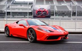 Picture Ferrari, Red, 458, Speciale