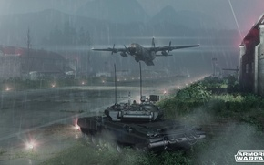 Picture tank, the plane, the airfield, T-90, armored warfare