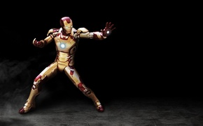 Wallpaper cinema, red, golden, armor, power, man, iron man, film, suit, Tony Stark, pearls, iron man ...