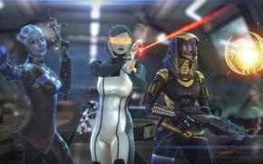 Picture mass effect, Mass Effect, Drill vas Normandy, fan art, EDI, Susie, liara t soni, asari, …