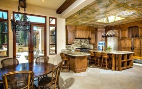 Picture design, style, Villa, interior, kitchen, ranch