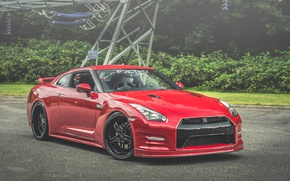 Picture Red, GT-R, Black, NISSAN, Wheels