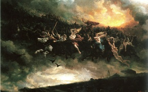 Wallpaper One, The Wild Hunt, Peter Nicolai Arbo