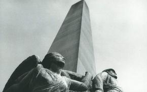 Picture soldier, angel, statues, obelisk