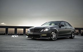 Picture black, tuning, Matt, mercedes, Mercedes, AMG, e63