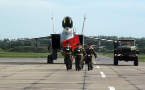 Picture fighter, the plane, the airfield, Stroy, BBC, military, Russia, banner, interceptor, WFP, The MiG-31, the …