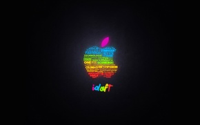 Wallpaper Apple, apple, glow