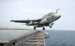 Picture USA, the plane, the rise, Grumman, Prowler, Navy, deck, EA-6, from the deck