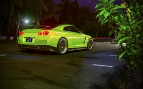 Picture GTR, Nissan, Car, Green, Back, R35, Sport, 1400HP, Tomei