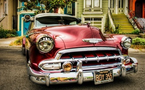 Picture Chevrolet, House, Machine, Street, Classic