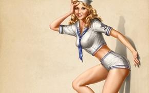 Wallpaper figure, sailor