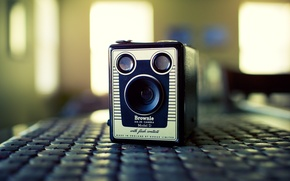 Picture camera, lens, old