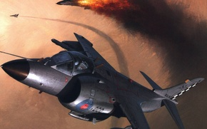 Picture figure, battle, British Aerospace, Harrier, Sea Harrier FRS Mk.I