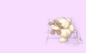 Picture mood, toy, baby, art, bear, steps, children's, fizzy moon