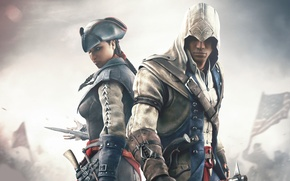 Wallpaper Evelyn, Assassin's Creed III, Radunhageydu, Assassin's Creed 3, Connor Kenuey