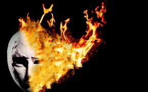 Picture background, fire, mask