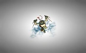Picture light background, Rafael, TMNT, Raphael, Teenage Mutant Ninja Turtles, teenage mutant ninja turtles