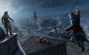 Wallpaper roof, night, Prince, assassins creed, Ezio, revelations, guards, Yusuf, Constantinople, constantinople, Yusuf Tazim, job, the ...
