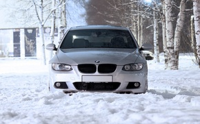 Picture Winter, Grey, BMW M3