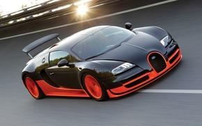 Picture the sun, track, Bugatti Veyron, Bugatti, Super Sport, Super Sport, 16.4