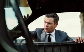 Wallpaper auto, costume, tie, actor, shirt, jacket, Matt Damon, photoshoot, Matt Damon, 2016, Sebastian Kim