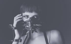 Picture portrait, mask, spikes, Jessica Wilcock