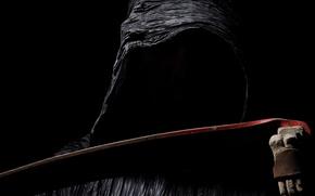 Picture dark, black, Grim Reaper, scythe