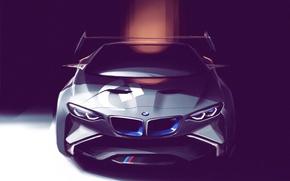 Picture figure, BMW, art, Vision, front, Concept Car, race car, Gran Turismo