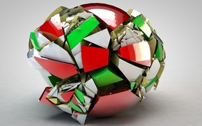 Picture fragments, ball, failure